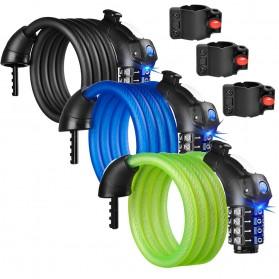 Gembok Sepeda Kombinasi Angka 4 Digit LED Light Anti-Theft Chain Lock - TY-732 - Black - 3