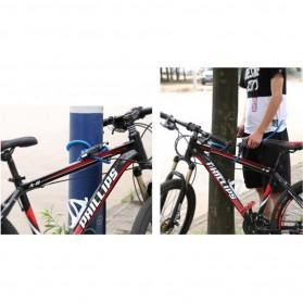 Gembok Sepeda Kombinasi Angka 4 Digit LED Light Anti-Theft Chain Lock - TY-732 - Black - 9
