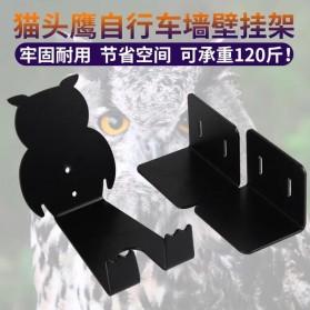 Gantungan Dinding Sepeda Bike Wall Hook Hanger Model Owl - SR-BMH1011 - Black - 6