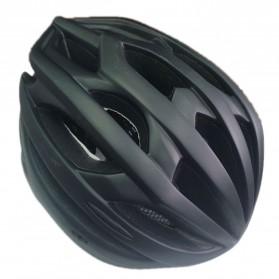 TaffSPORT Helm Sepeda Cycling Helmet EPS Foam PVC Shell LED Safety Light - XK07 - Black - 2