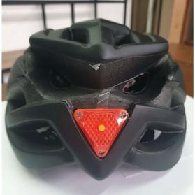 TaffSPORT Helm Sepeda Cycling Helmet EPS Foam PVC Shell LED Safety Light - XK07 - Black - 4