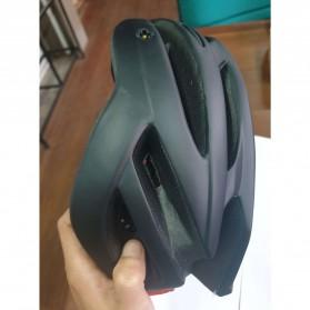 TaffSPORT Helm Sepeda Cycling Helmet EPS Foam PVC Shell LED Safety Light - XK07 - Black - 5