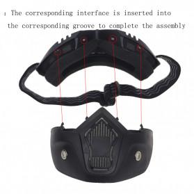 TaffSPORT BOLLFO Kacamata Goggles Mask Motor Retro Anti Glare Windproof WIDE - MT-01 - Black/Blue - 4