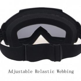 TaffSPORT BOLLFO Kacamata Goggles Mask Motor Retro Anti Glare Windproof WIDE - MT-01 - Black/Blue - 7