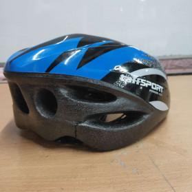 TaffSPORT Helm Sepeda EPS Foam PVC - x31 (OBRAL/DEFECT) - Black/Blue