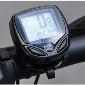 Speedometer Sepeda Wireless Display LCD - SD-548C - Black - 2