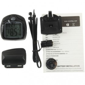 Speedometer Sepeda Wireless Display LCD - SD-548C - Black - 6