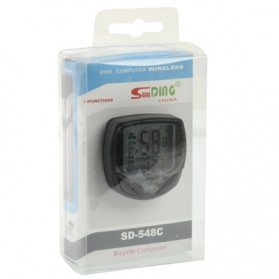 Speedometer Sepeda Wireless Display LCD - SD-548C - Black - 8
