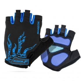 Moreok Sarung Tangan Half Finger - Size XL (backup) - Blue