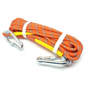 NTR Tali rappelling Safety Climbing Rope 10 Meter - E203950 - Orange