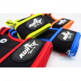 Runtop Sarung Tangan Gym Weight Lifting Glove Support Size M - Rt-009 - Blue - 2
