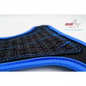 Runtop Sarung Tangan Gym Weight Lifting Glove Support Size M - Rt-009 - Blue - 5