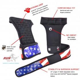 Runtop Sarung Tangan Gym Weight Lifting Glove Support Size M - Rt-009 - Blue - 7