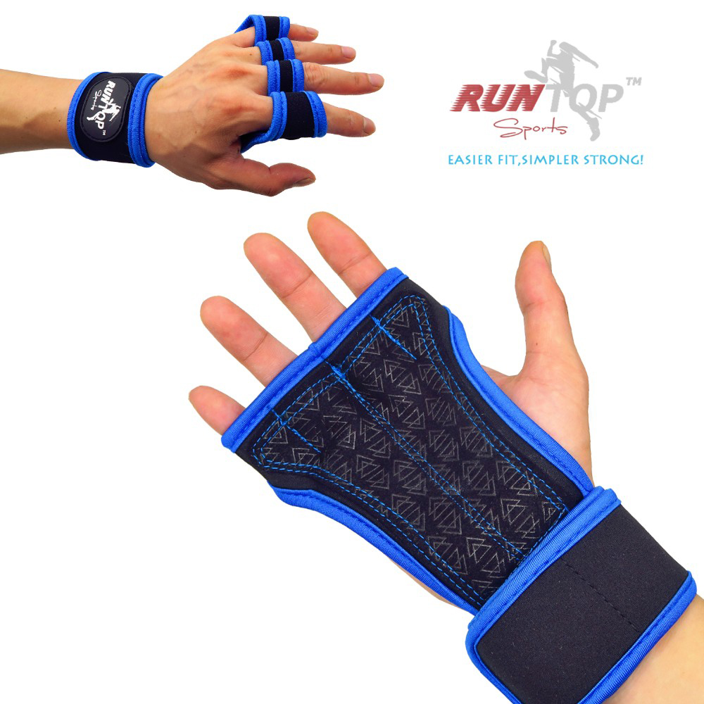 Runtop Sarung Tangan Gym Weight Lifting Glove Support Size Xl Rockbros S109 1 Bike Full Finger Sepeda Red Blue