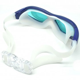 Ruihe Kacamata Renang Big Frame Anti Fog UV Protection - RH9110 - Blue - 2