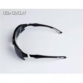 Obaolay Kacamata Sepeda Polarized Sunglasses UV400 - SP0879 - Black - 5