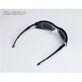 Obaolay Kacamata Sepeda Polarized Sunglasses UV400 - SP0879 - Black - 6