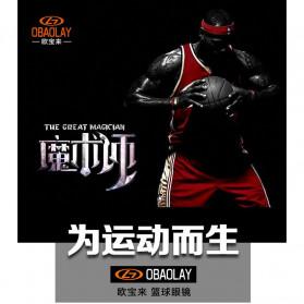 Obaolay Kacamata Olahraga Basket Anti Collision Eye Protector Glasses - L009 - Black - 2
