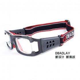 Obaolay Kacamata Olahraga Basket Anti Collision Eye Protector Glasses - L009 - Black - 3