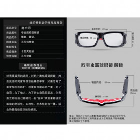 Obaolay Kacamata Olahraga Basket Anti Collision Eye Protector Glasses - L009 - Black - 6