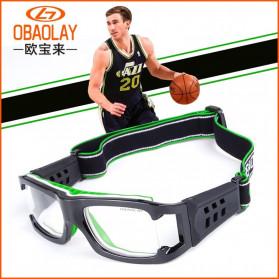 Olahraga & Outdoor - Obaolay Kacamata Olahraga Basket Anti Collision Eye Protector Glasses - FD56 - Black/Green