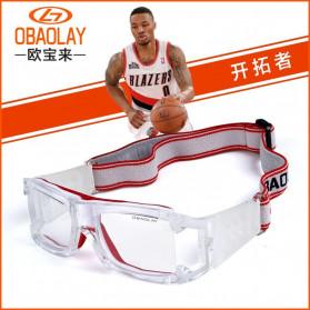 Olahraga Sepeda - Obaolay Kacamata Olahraga Basket Anti Collision Eye Protector Glasses - FD56 - Red/White