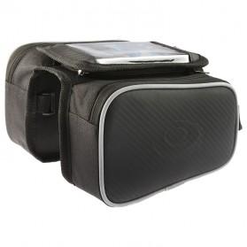 Roswheel Tas Sepeda Waterproof dengan Case Smartphone - ROS12813 - Black - 2