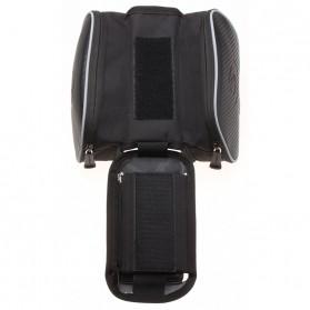 Roswheel Tas Sepeda Waterproof dengan Case Smartphone - ROS12813 - Black - 4