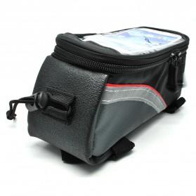 Roswheel Tas Sepeda Waterproof untuk 4.8 inch Smartphone - 12496 - Black - 2