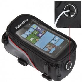 Roswheel Tas Sepeda Waterproof untuk 4.8 inch Smartphone - 12496 - Black - 4