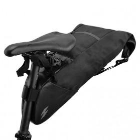 SAHOO Tas Sadel Sepeda Bicycle Waterproof Bag 10L - 131414-B - Black - 4