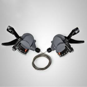 Shimona ALIVIO 9 Speed Trigger Shifter Sepeda Gunung 2 PCS - M4000 - Black