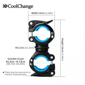 CoolChange Clamp Penjepit Senter Stang Sepeda - 02011 - Black - 2