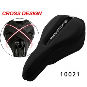 CoolChange Cover Jok Sepeda Sponge Criss Cross Fasten - 10021 - Black - 1