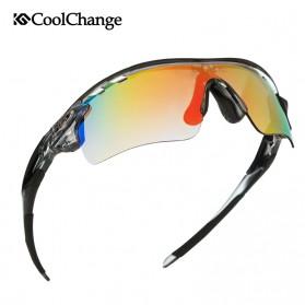 CoolChange Kacamata Sepeda dengan 5 Lensa Myopia - 0093 - Gray