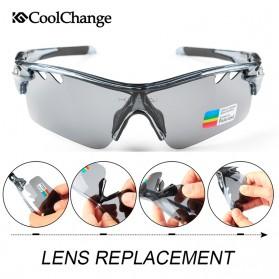 CoolChange Kacamata Sepeda dengan 5 Lensa Myopia - 0093 - Gray - 5