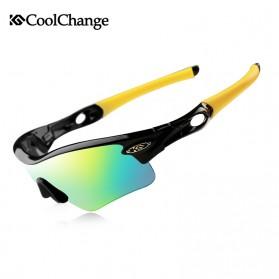 CoolChange Kacamata Sepeda dengan 5 Lensa Myopia - 511 - Black/Yellow