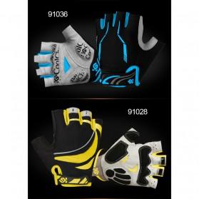 CoolChange Sarung Tangan Sepeda Half Finger Sporty Size L - Black Blue - 3