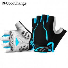 CoolChange Sarung Tangan Sepeda Half Finger Sporty Size M (backup) - Black Blue