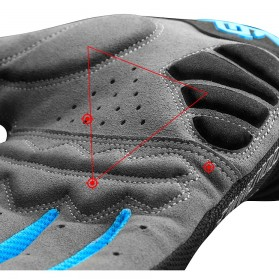 CoolChange Sarung Tangan Sepeda SBR Pad - Size XXL - Blue - 3
