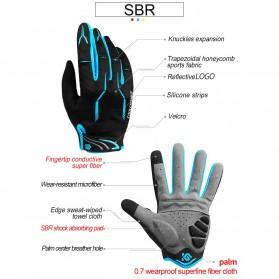 CoolChange Sarung Tangan Sepeda SBR Pad - Size XXL - Blue - 5