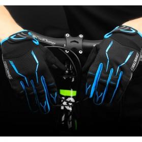 CoolChange Sarung Tangan Sepeda SBR Pad - Size XXL - Blue - 6