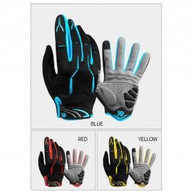 CoolChange Sarung Tangan Sepeda SBR Pad - Size XXL - Blue - 7