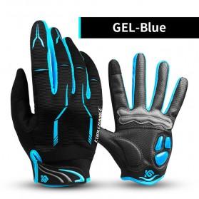 CoolChange Sarung Tangan Sepeda Silicone Gel Pad - Size M (backup) - Blue
