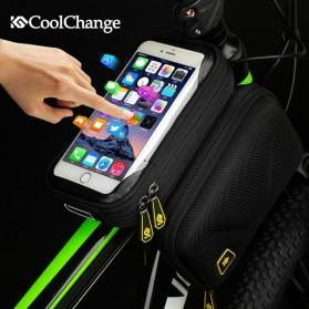 CoolChange Tas Sepeda Double EVA Bag Smartphone 6.2 Inch - 12011 - Black - 2