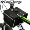 Armband Sport Holder Gadget - CoolChange Tas Sepeda Double Saddle Bag Smartphone 5 Inch - 12009 - Black