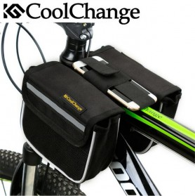 CoolChange Tas Sepeda Double Saddle Bag Smartphone 5 Inch - 12009 - Black