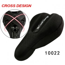 CoolChange Cover Jok Sepeda Sponge Criss Cross Fasten - 10022 - Black