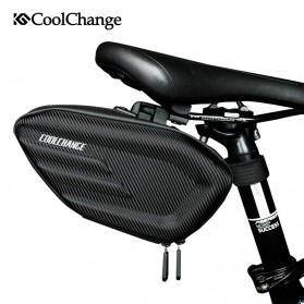 CoolChange Tas Jok Sepeda Reflective Seat Tail Bag Waterproof - 12025 - Black