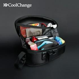 CoolChange Tas Jok Sepeda Reflective Seat Tail Bag Waterproof - 12025 - Black - 4